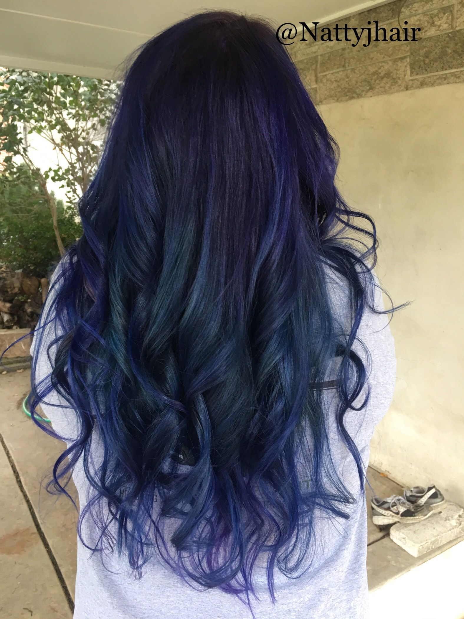 Violet Vivids Purple Hair With Some Nightfall Blue And Mercury