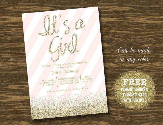 Baby Shower Invitation Backgrounds Free Simple Pink And Gold Baby Shower Invitation Printablesweetgumdrop .