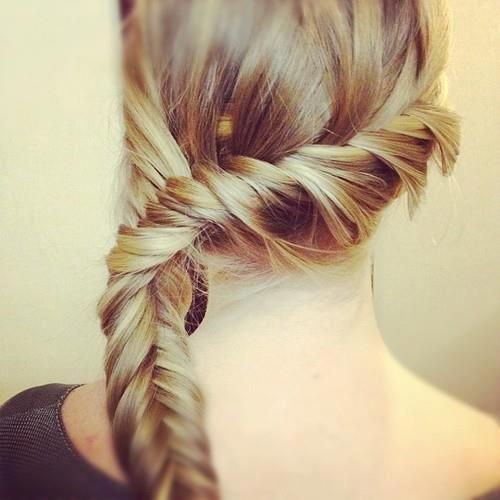 Twisty Fish Tail Hair Styles Long Hair Styles Braids For Long Hair