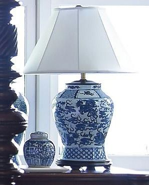 Featuring A Stunning Hand Painted Chinoiserie Design, The Large Chinoiserie Table  Lamp Adds A