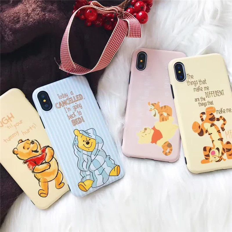 buy popular b2304 fb6de Details about Cartoon Disney cute winnie the pooh soft case Cover ...