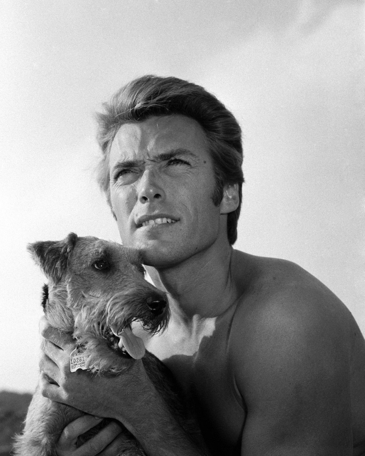 Clint Eastwood with his dog. You don't see too many actors