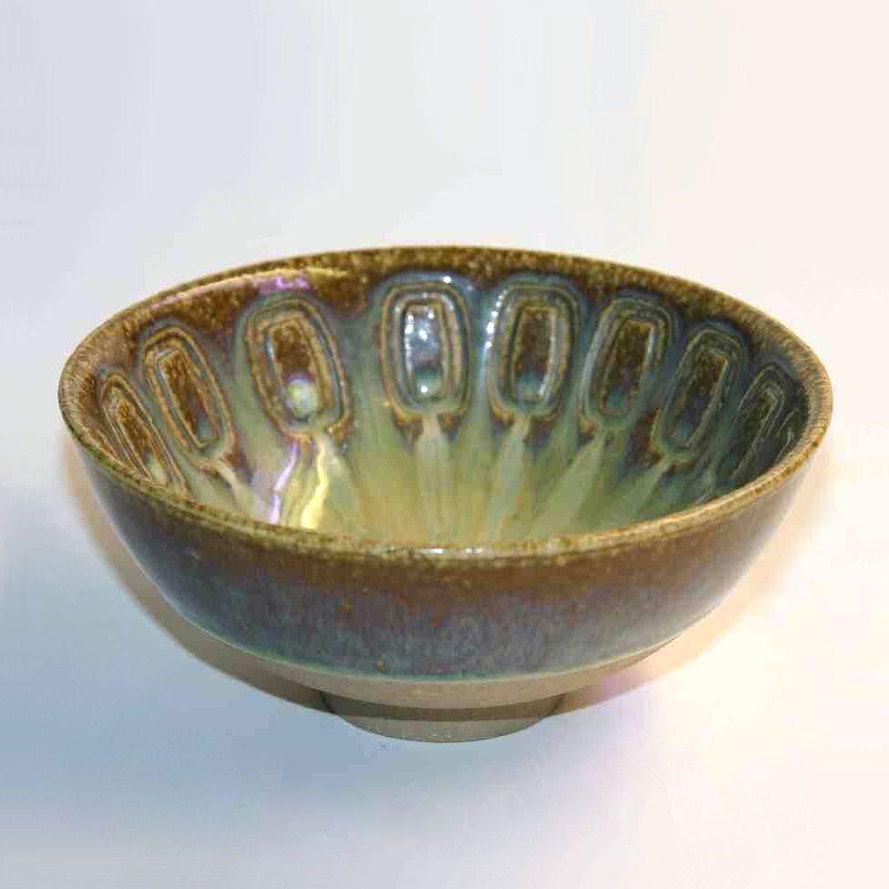 Soholm Brown Green Glazed Bowl Artist Einar Johansen 1960 S Denmark Glazed Bowl Decorative Bowls Bowl