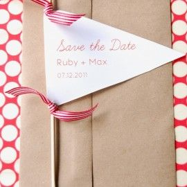 DIY Flag Save the Date from Chelsea at Frolic | Wedding Ideas and Inspiration Blog