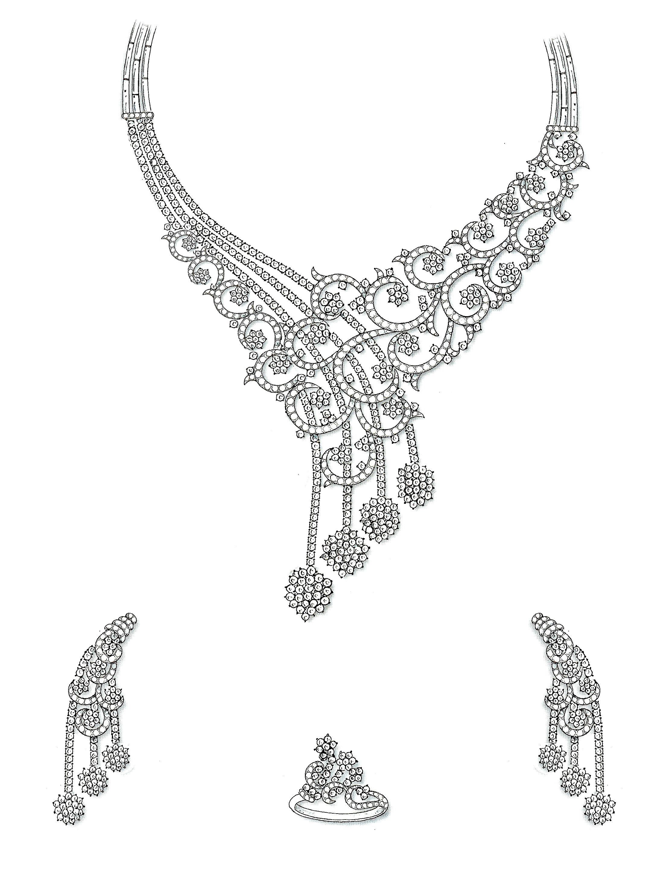 Necklace Design Sketches  Print Photos  View FullSize