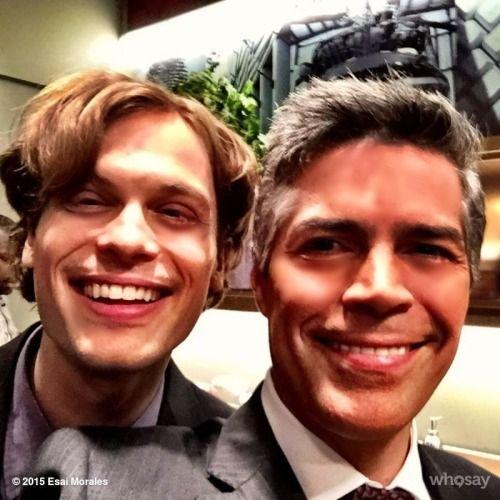 @Esai_Morales: @GUBLERNATION Reid all about it… ;) You rock doc! @CrimMinds_CBS #CriminalMinds #selfie #TV #CBS