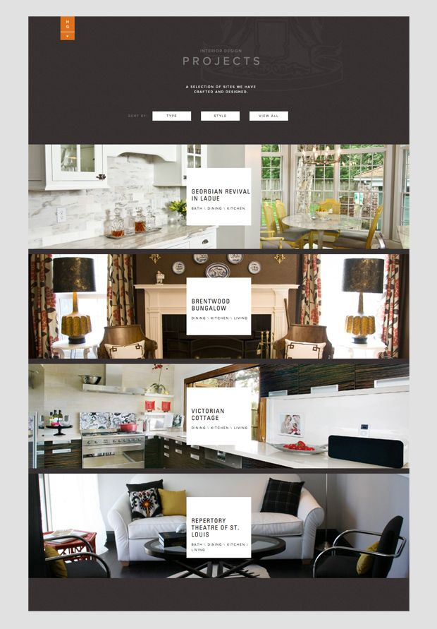 Web site design for hip gable interior firm also our work