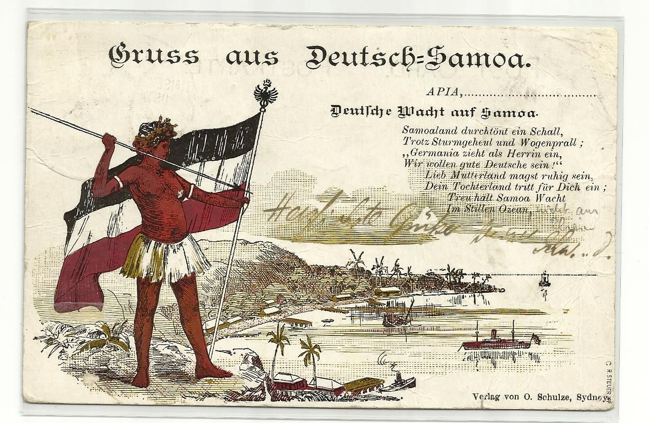 A postcard of the german empire with the sentence greetings from a postcard of the german empire with the sentence greetings from german samoa m4hsunfo