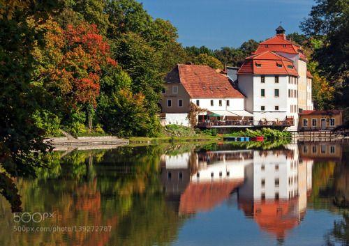 Mill and riverside restaurant by paulklaus3  River Neisse Görlitz Germany paulklaus3