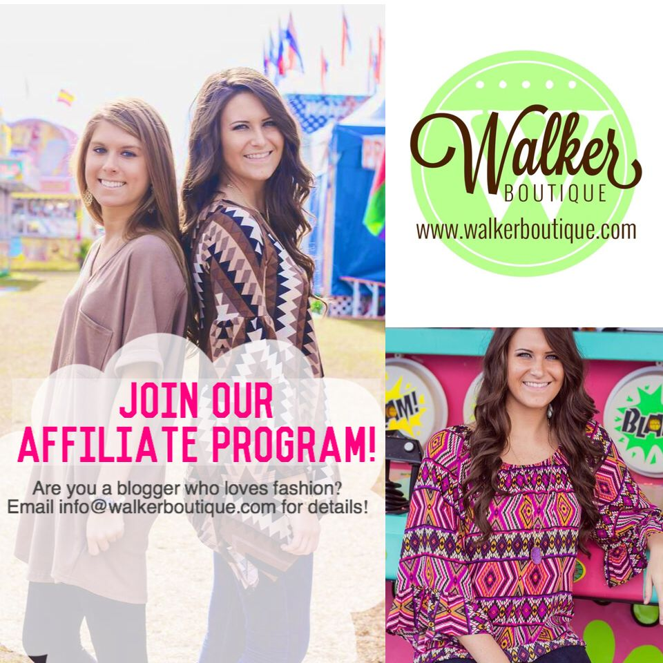 Please send affiliate inquires to info@walkerboutique.com Www.walkerboutique.com