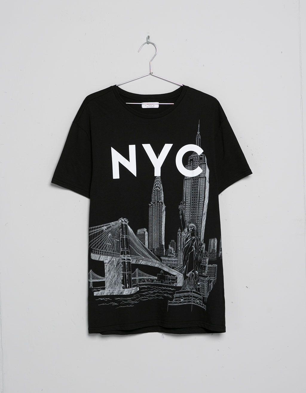 Camiseta ciudades - Camisetas - Bershka España
