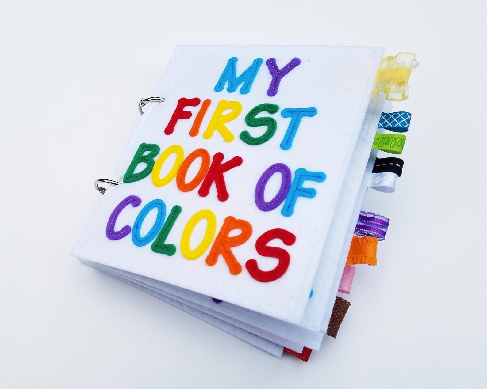 My First Book Of Colors Quiet Book Felt Book Busy Book No