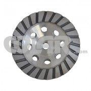 Rebolo Diamantado Alumínio 125mm M14 - Gr 36 - www.colar.com