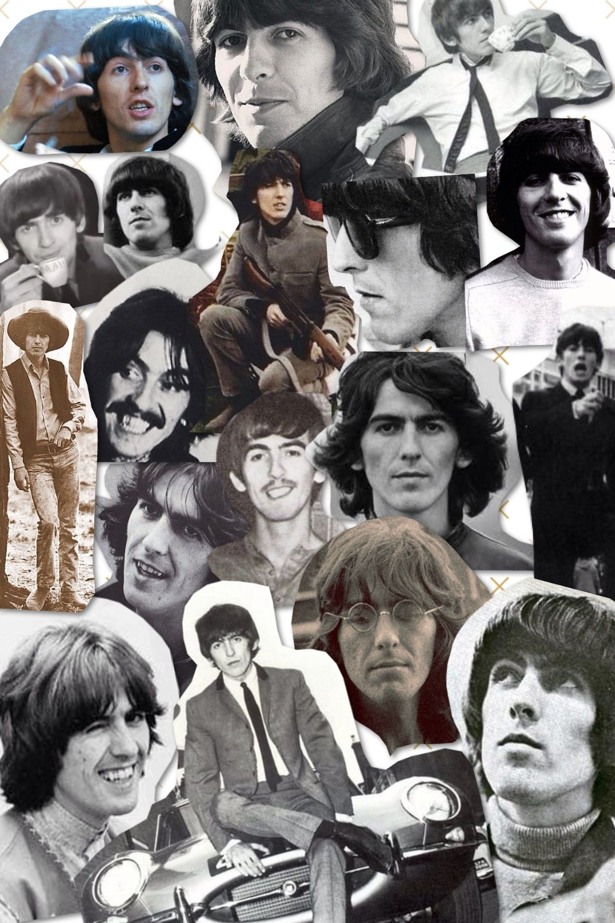 A collage... Of George Harrison. c: