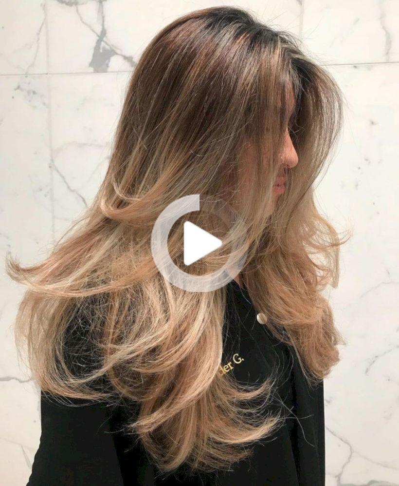 49 Stilvolle Lange Frisuren Frauen Ideen Layeredhair Die Meisten Das Gefuhl Dass Es Schwierig Balayage Frisur Langes Stufiges Haar Frisuren Langhaar