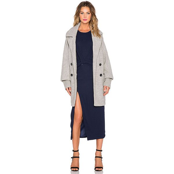 Maurie & Eve Riley Coat Jackets & Coats (4 375 ZAR) ❤ liked on Polyvore featuring outerwear, coats, coats & jackets, blue coat, woolen coat, maurie & eve, blue wool coat and wool coat