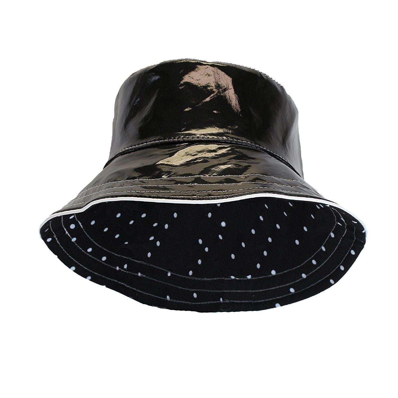 Scala Classico Womens Nylon Water Repellent 3 Inch Brim Lined Rain Hat