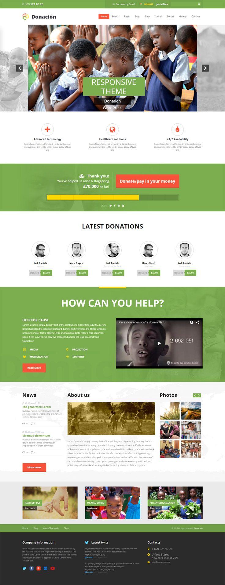 15 Best Wordpress Themes For Non Profit Organizations Wordpress Theme Responsive Nonprofit Website Design Wordpress Website Design