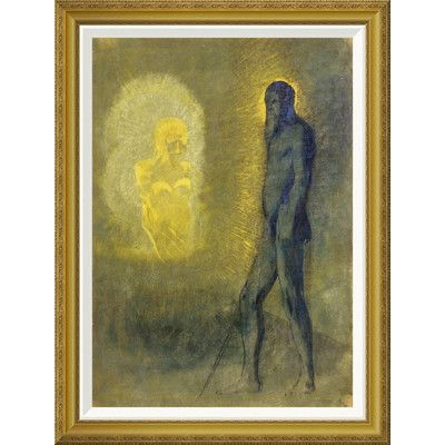 Global Gallery \'L\'Apparition\' by Odilon Redon Framed Painting Print ...