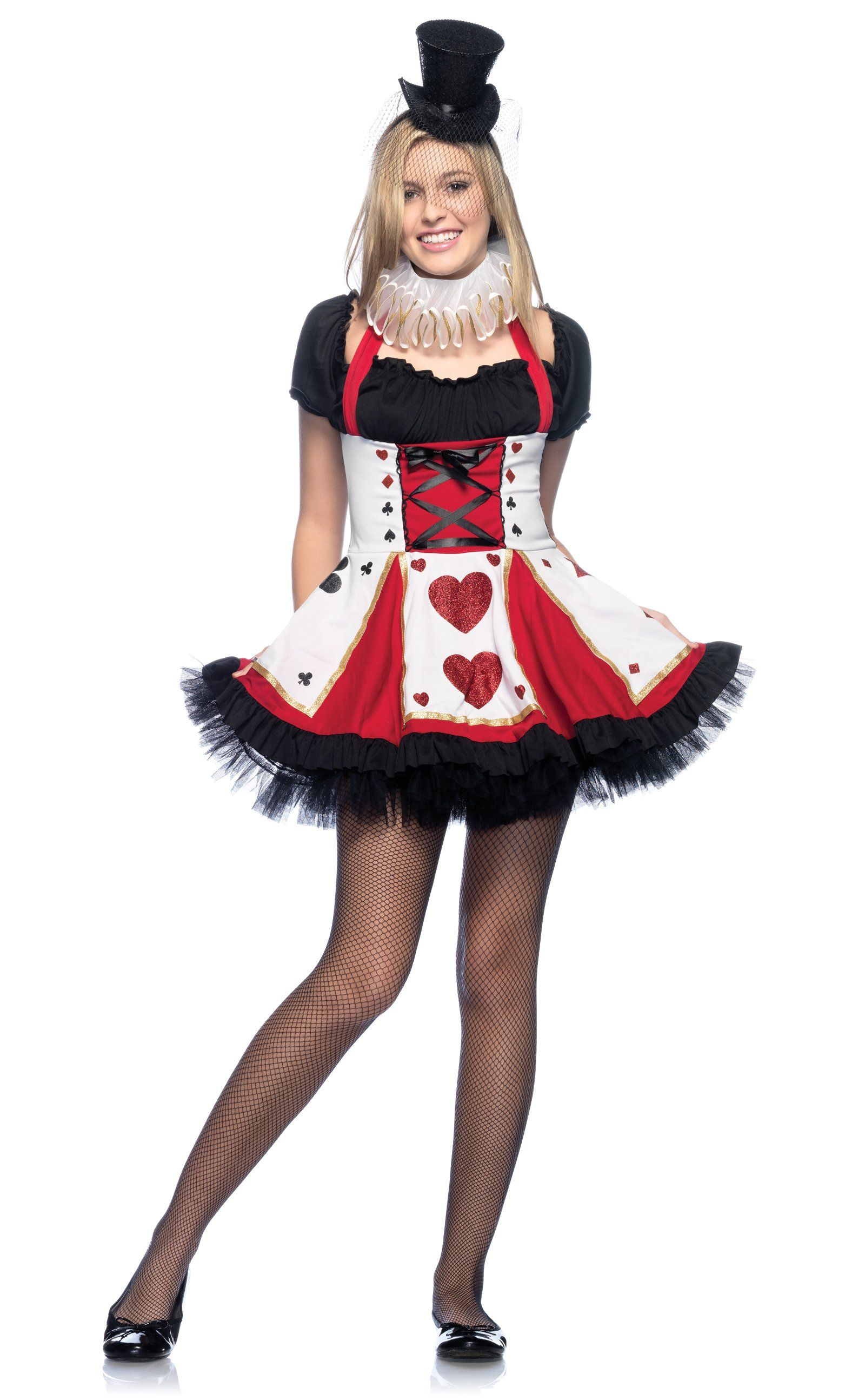 Queen of hearts playing card teen costume halloween costumes