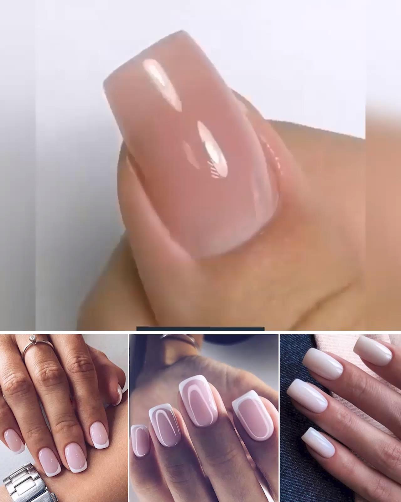 nagel videos #nails #nagel Tragen Sie unter den knstlichen Nagel eine dnne Schicht des Polygels auf und befestigen Sie ihn an Ihrem Nagel. Nach dem Trocknen unter dem LED-Licht, entfernen Sie den knstlichen Nagel und formen Sie den neuen Nagel mit einer Nagelfeile.