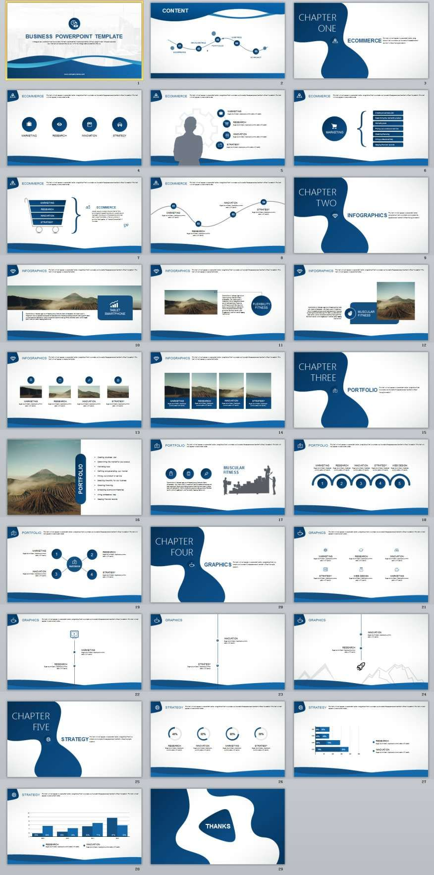 29 Best Blue Business Powerpoint Template Business