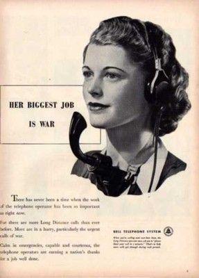 1944 Bell Telephone Operator