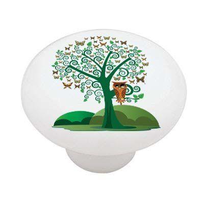 $3.25, Owl Butterfly Tree High Gloss Ceramic Drawer Knob by Decoration Sensation, http://www.amazon.com/dp/B00672WAE4/ref=cm_sw_r_pi_dp_MEJerb1SB41SA