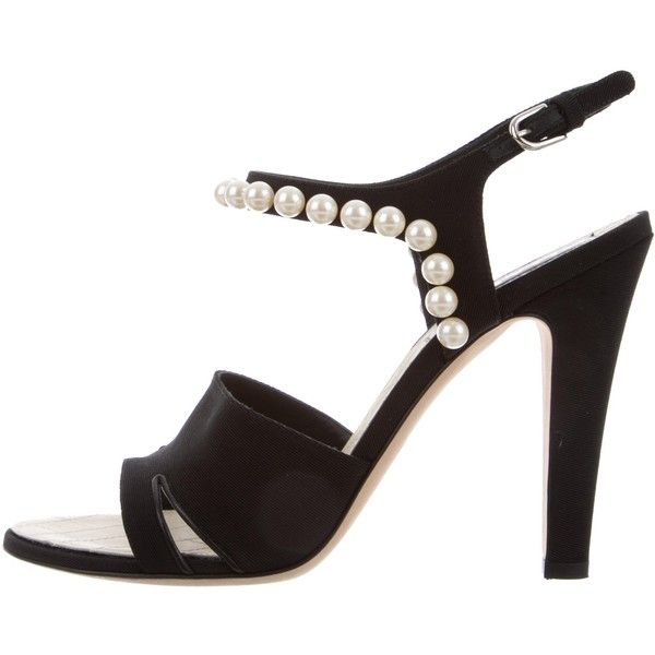 0595804e92b Pre-owned Chanel Ankle Strap Pearl Sandals (15