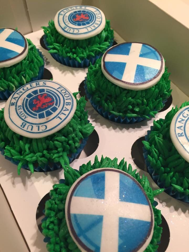 Glasgow Rangers Cupcakes Scottish Pinterest Celebration