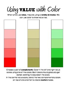 Color value scaleshading practice scale art lessons and colored color value scale fandeluxe Image collections