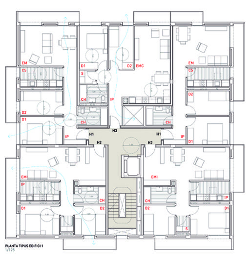 Social housing in Sentmenat | Floor Plans | Pinterest | Architecture ...