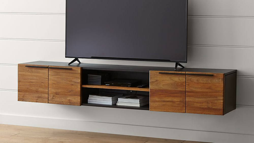 Rigby Natural 80 5 Large Floating Media Console Reviews Crate