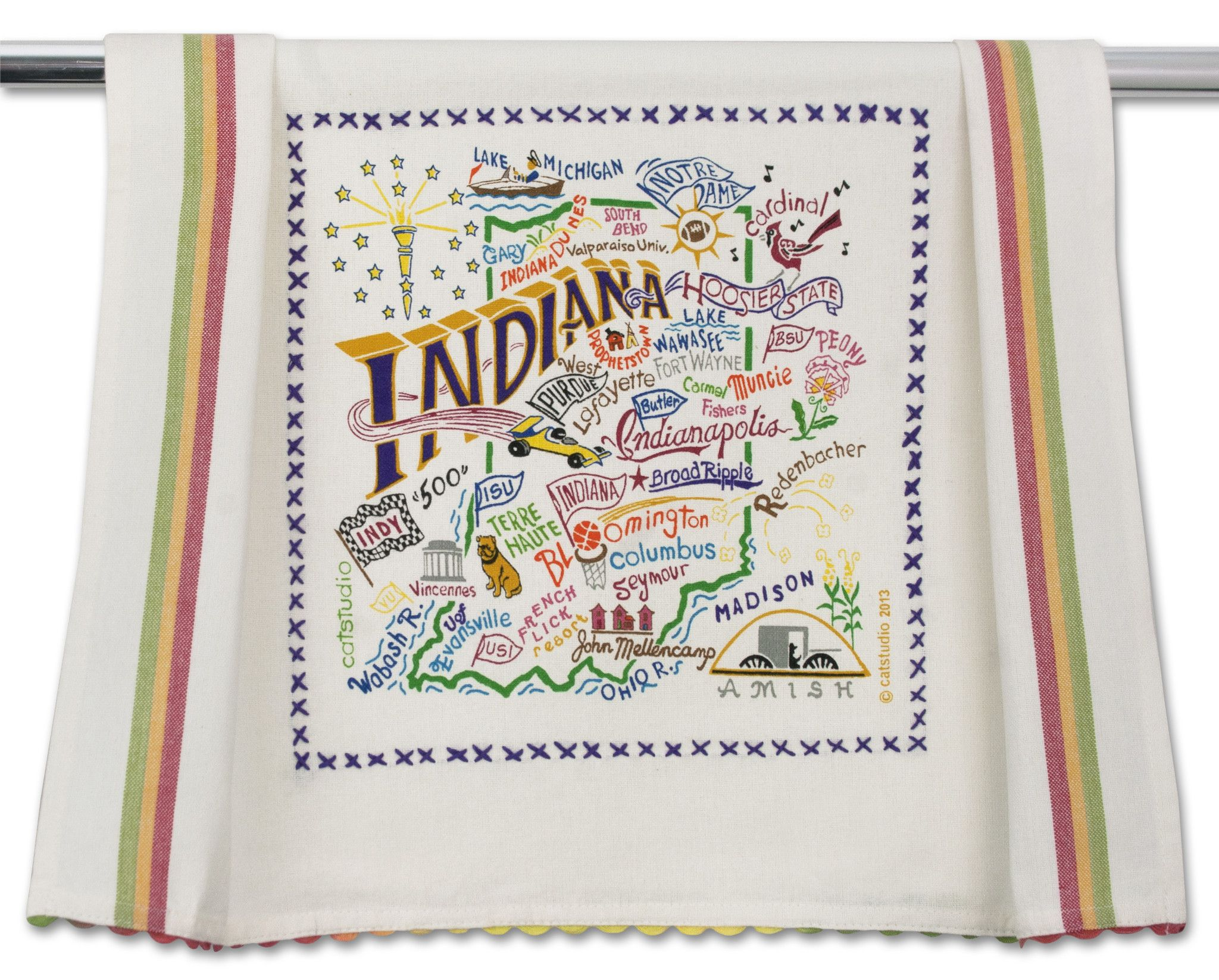 This original design celebrates the great state of indiana from