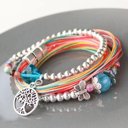 Farbenfroher Schmuck mit gefärbtem Perlen, DQ Metall und neuem Nylon ...