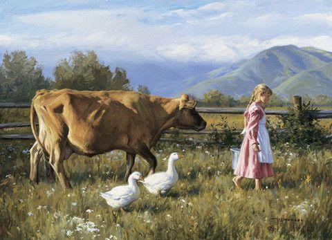 Dairy cows card set – Cow Art and More | 油畫、ポストカード、美術