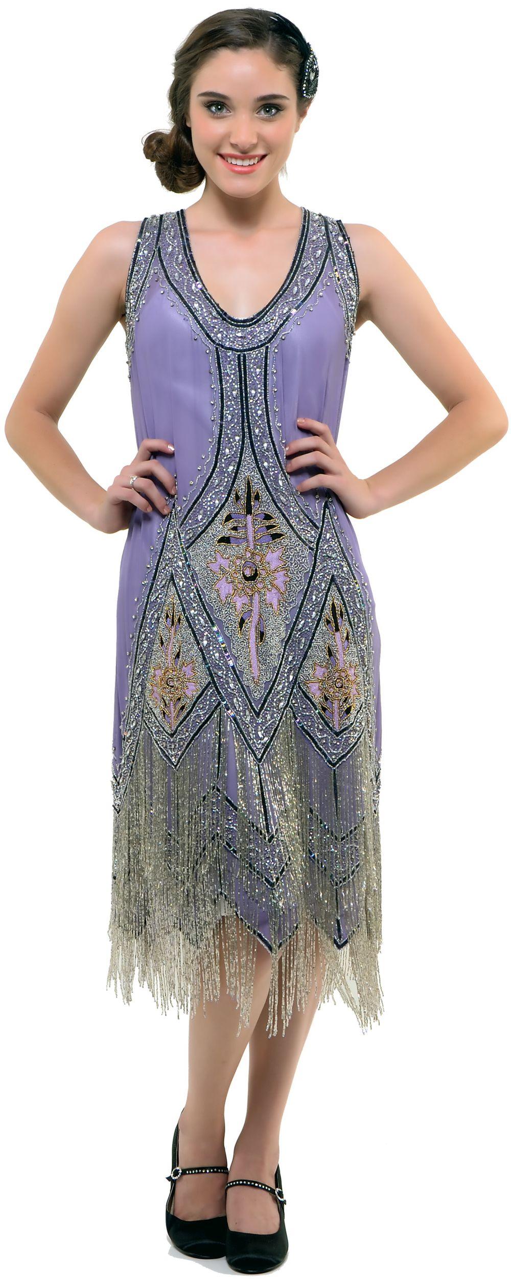 Unique Vintage 1920s fashion dresses, Flapper dresses
