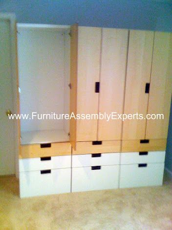 Ikea Stuva Storage Combination Assembled In Alexandria