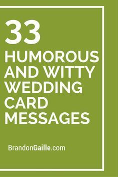35 Humorous And Witty Wedding Card Messages