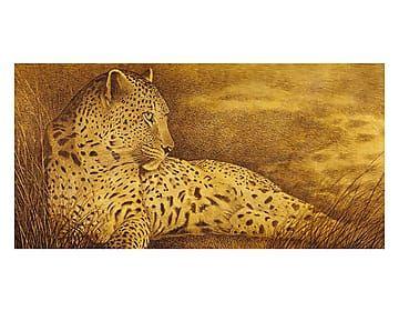 Riproduzione su tela Leopardo versione oro - 160x80 cm