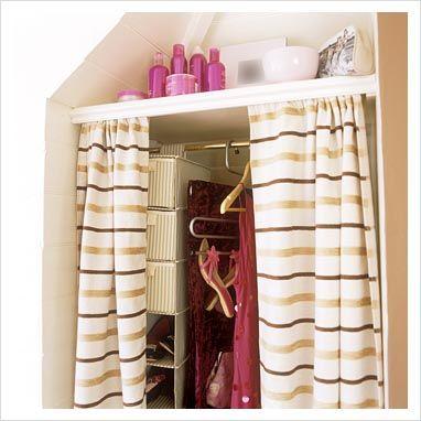 foto de Alcove wardrobe with curtains   Alcove wardrobe, Curtain wardrobe ...