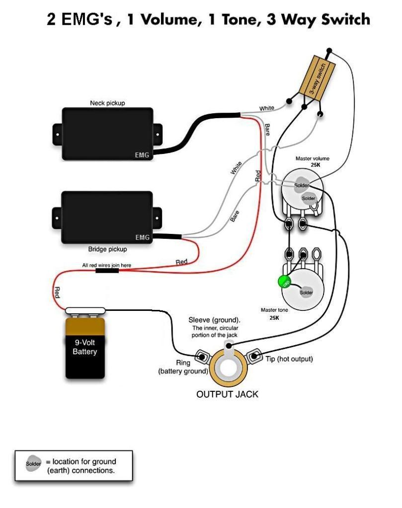 awesome emg pickups installation pictures wiring diagram dedree rh pinterest com EMG Bass Pickups Wiring-Diagram EMG Select Wiring-Diagram