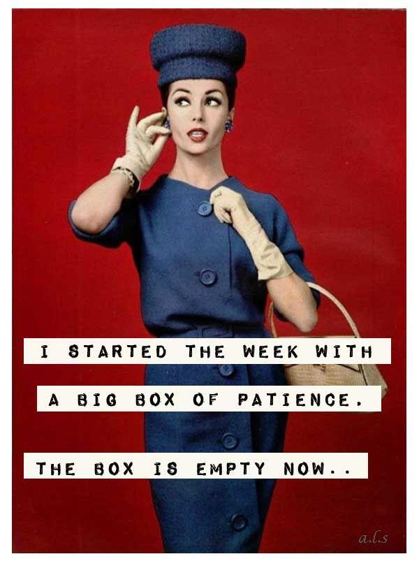 the box is empty! vintage retro funny quote Humor