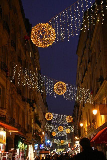 Christmas On Rue Montorgueil Paris By Paristhroughmylens Christmas In Paris Christmas Lights I Love Paris