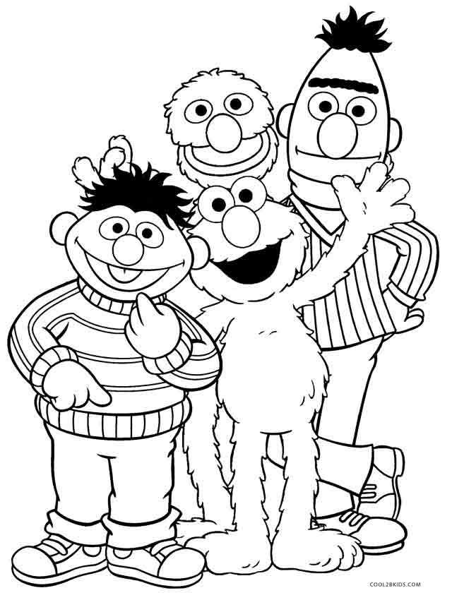 Printable Elmo Coloring Pages   Christabella\'s tot school ...