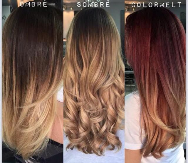 Hair Dye Types Ombre Sombre Colormelt Hair Styles Hair Hairstyle