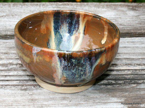 Swirly Sea Pendant Brown Stoneware Clay