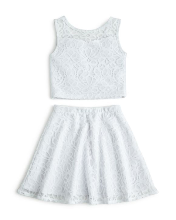 45cdda4d487d7 Sally Miller Girls  Lace Crop Top   Skirt