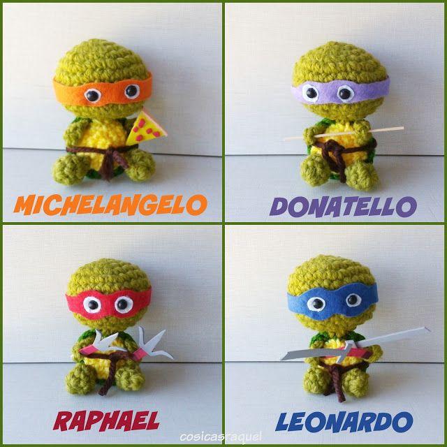 Tortugas Ninja patrón gratuito en español en mi blog