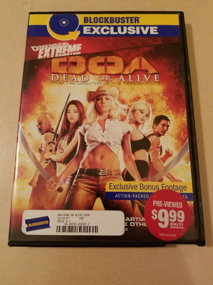 Doa Dead Or Alive Dvd Used Blockbuster Exclusive Dvd Action